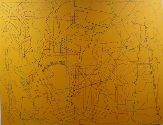 Es inútil sublevarse, (70cm x 90cm), 2017, del artista Galo García Carrión.