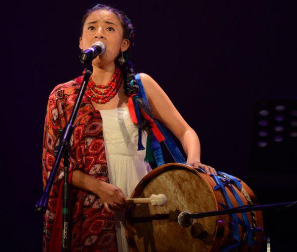 En 2014. Mariela es originaria de la comunidad Cacha (Chimborazo).