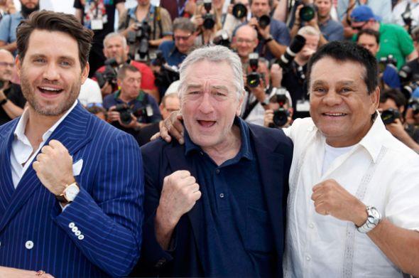 En Cannes: Édgar Ramírez, Robert De Niro y Roberto Durán.